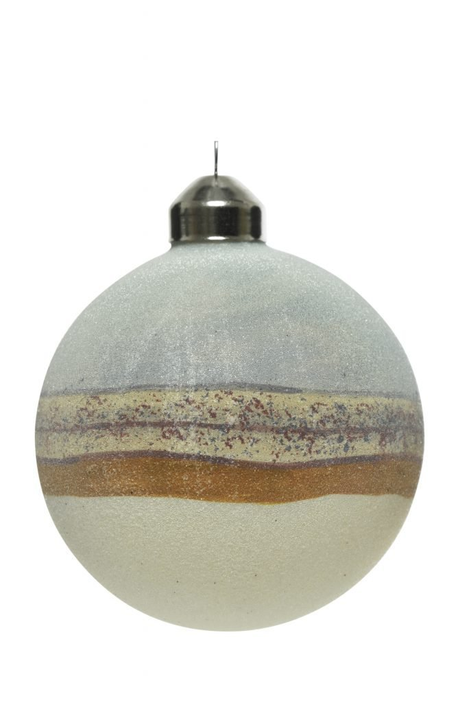 christmas bauble in Pale Blue Galactic Baubles