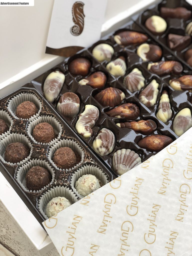 Guylian Belgian Chocolates in a white box
