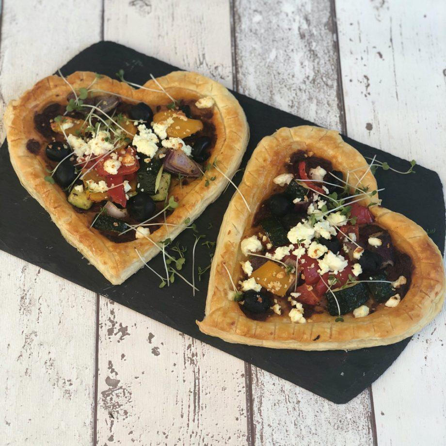 Roast Vegetable Tarts for Valentine's Day