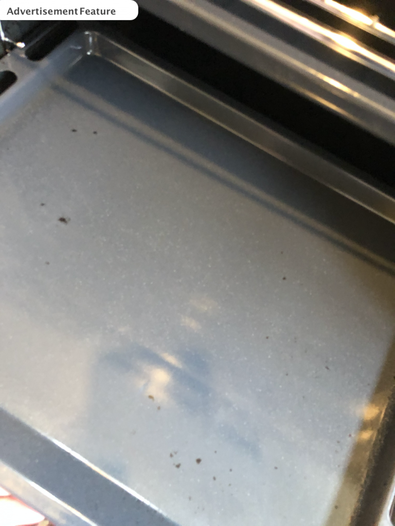clean oven shelf after using tableau eco oven cleaner
