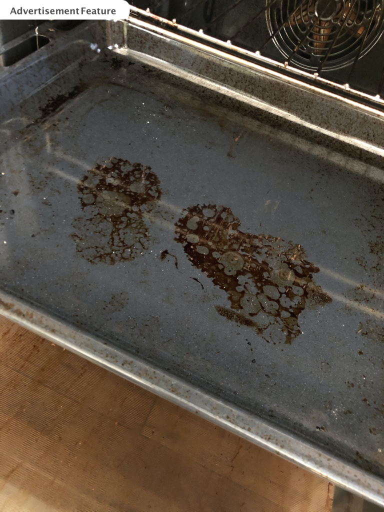 greasy oven shelves that really need cleaning