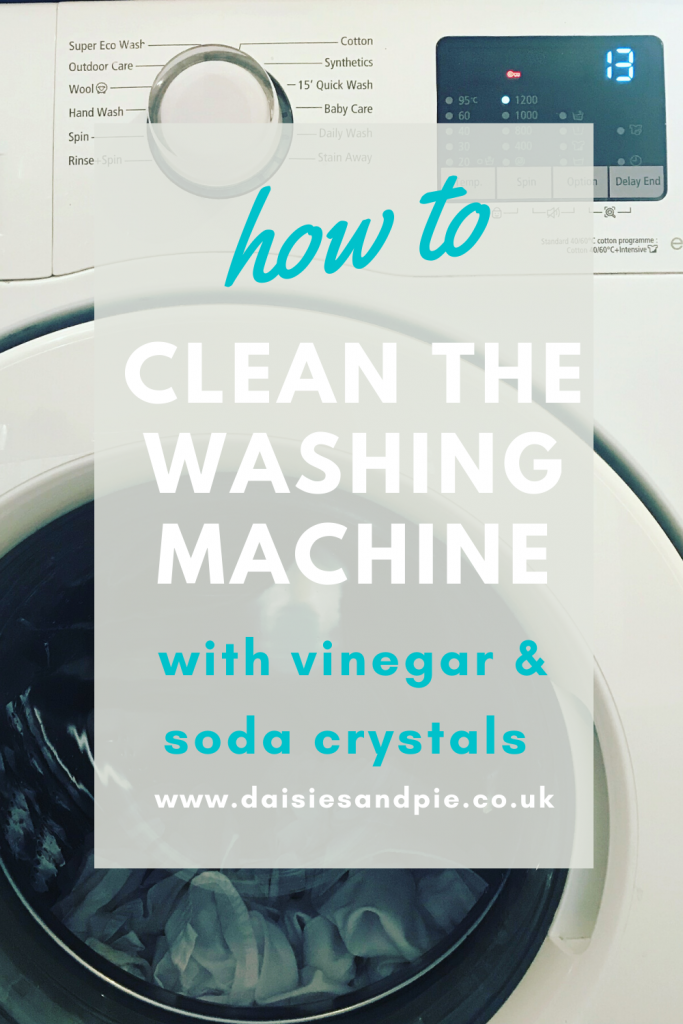 "samsung washing macine. Text ""how to clean the washing machine with soda crystals and white vinegar - www.daisiesandpie.co.uk"""