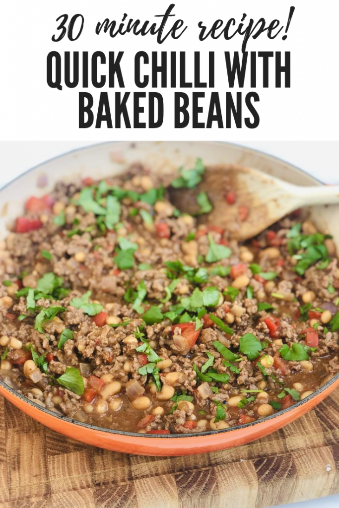 "quick chilli con carne with baked beans. Get overlay ""30 minute recipe quick chilli with baked beans"""