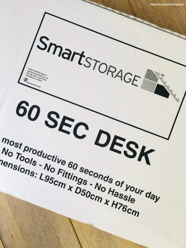 60 second desk from clever closet in the box