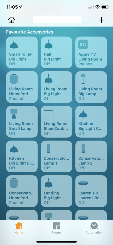 Home App with Philps Hue lights touch screen