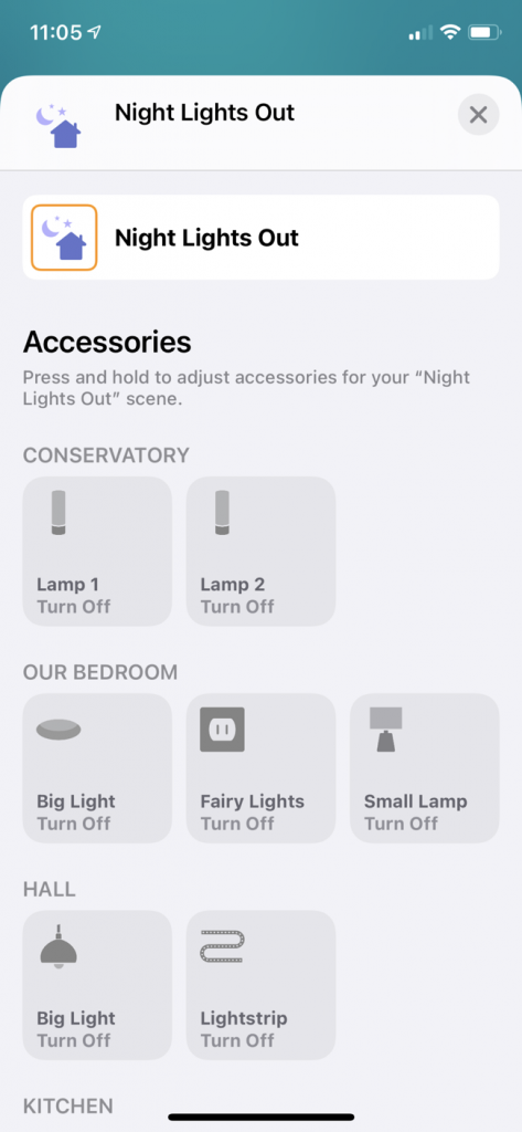 How to set the Philips Hue scenes on the Apple Home App