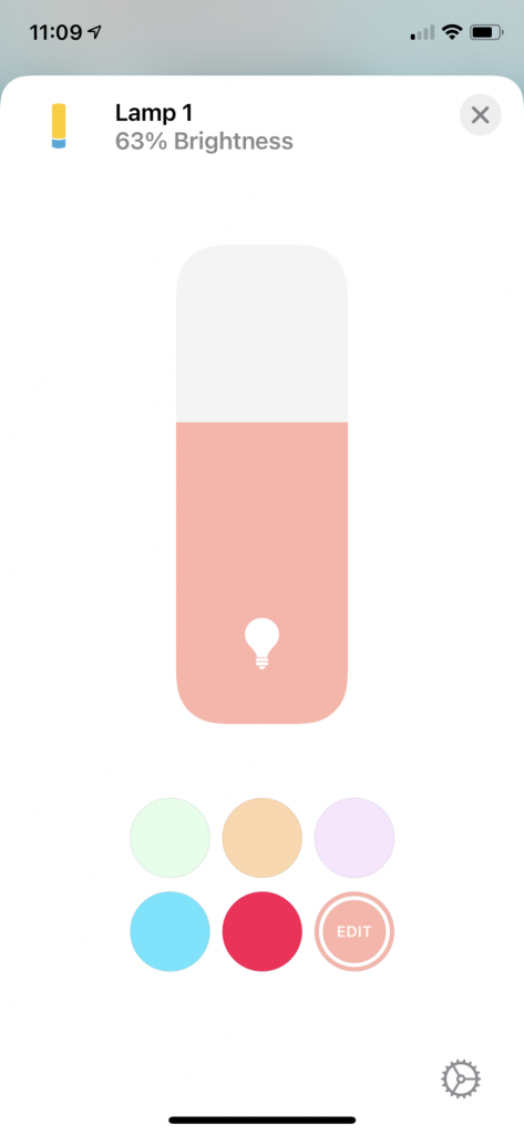 how to choose the colour for the Philips Hue lights using the Apple home app