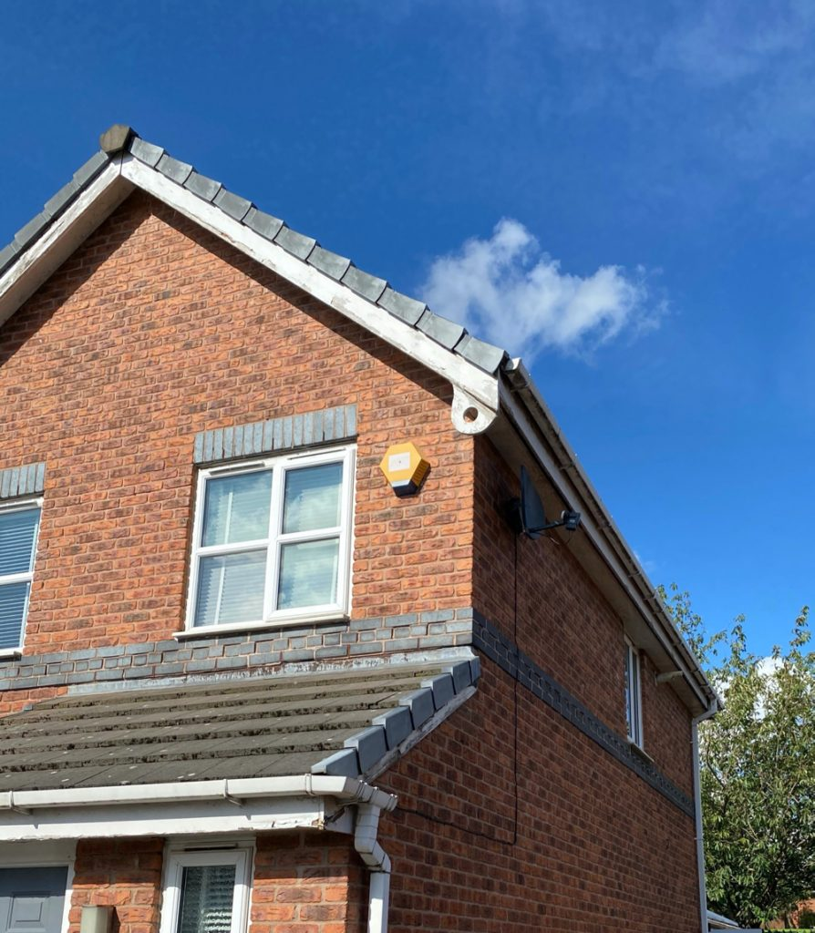 3 bed semi detached with rotten timber fascia boards and soffits ready to be replaced with upvc fascia boards and soffits