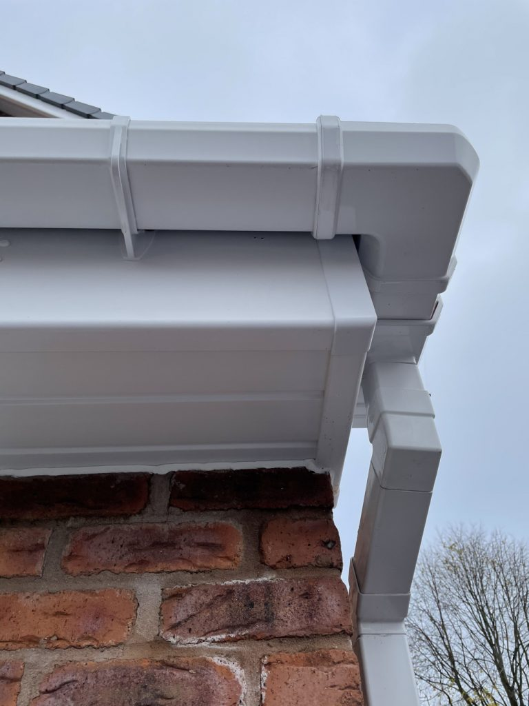 new upvc fascia, soffits and guttering supplied and fitted by NK Roofline Merseyside