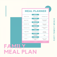 weekly family meal plan