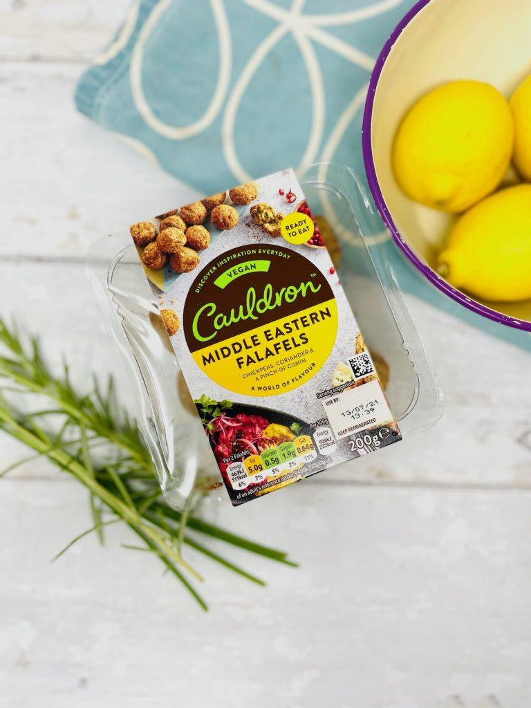 packet of cauldron foods Middle easter falafels